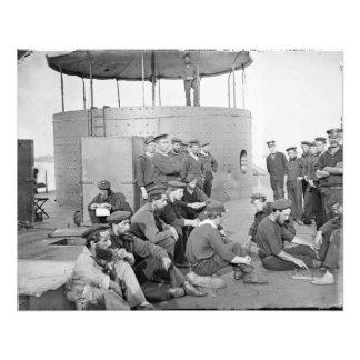 USS Monitor, July 9, 1862, 20 x 25 B/W photo print