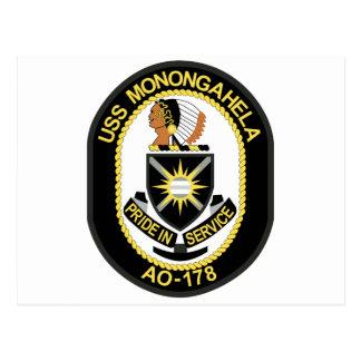 USS MONONGAHELA AO-178 POST CARD