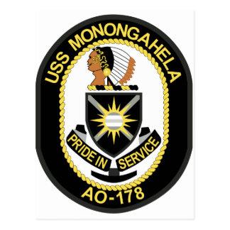 USS MONONGAHELA AO-178 POSTCARD