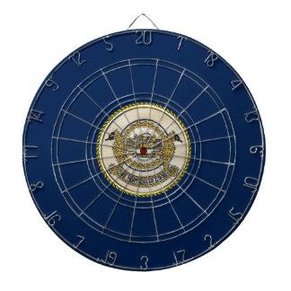 USS MONTICELLO (LSD-35) DARTBOARD WITH DARTS