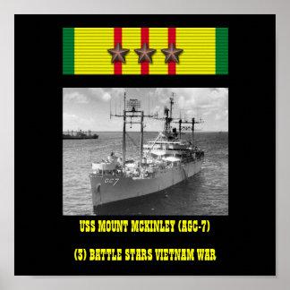 USS MOUNT MCKINLEY (AGC-7) POSTER
