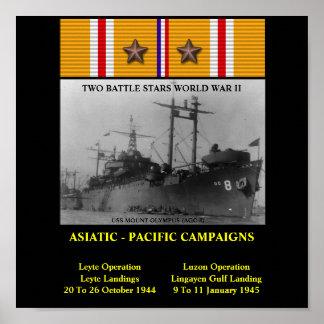 USS MOUNT OLYMPUS (AGC-8)  POSTER