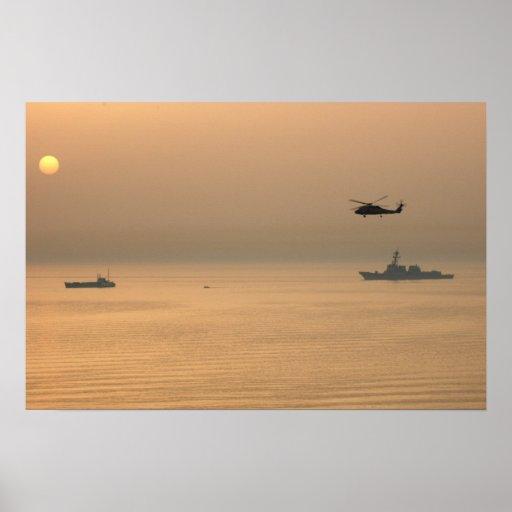 USS Mustin Poster