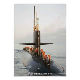 USS NARWHAL POSTER