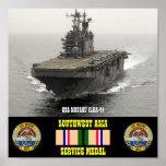 USS NASSAU (LHA-4) POSTER