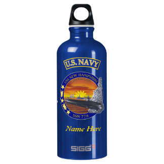 USS New Hampshire SSN-778 Custom Liberty Bottle