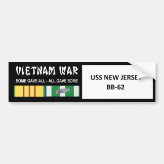 USS NEW JERSEY VIETNAM WAR VETERAN BUMPER STICKER