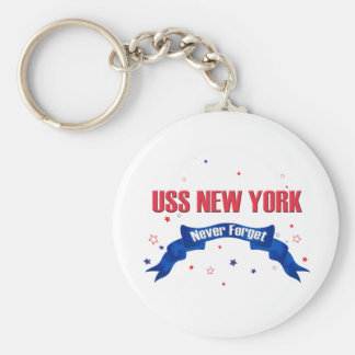 USS New York Never Forget Keychain
