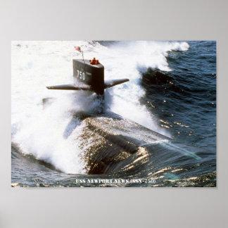 USS NEWPORT NEWS POSTER