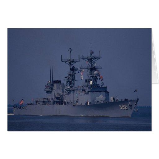 """USS Nicholson"""", destructor de la clase del spruanc Felicitacion"""