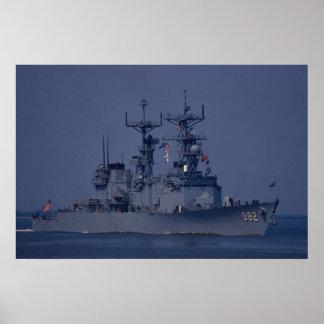 "USS Nicholson"", spruance class destroyer Print"