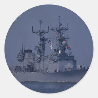 USS Nicholson spruance class destroyer Round Sticker