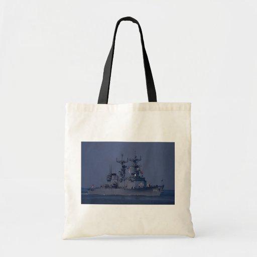 "USS Nicholson"", spruance class destroyer Tote Bag"
