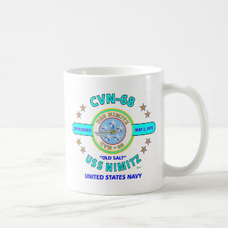 "USS NIMITZ CVN-68 "" OLD SALT"" NAVY CARRIER COFFEE MUG"