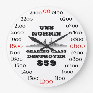 USS Norris (DD-859) Large Clock
