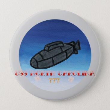 USS North Carolina submarine navy pin