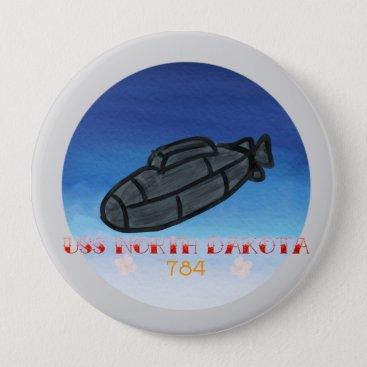 USS North Dakota submarine navy pin