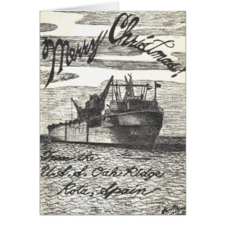 USS Oak Ridge (ARDM-1) Christmas Card