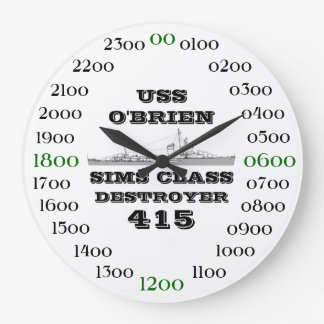 USS O'Brien (DD-415) Large Clock