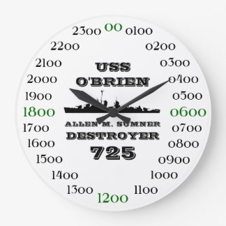USS O'Brien (DD-725) Large Clock
