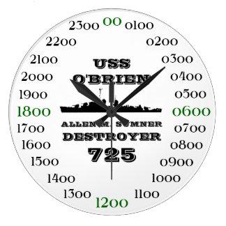 USS O'Brien (DD-725) Reloj Redondo Grande