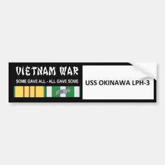 USS OKINAWA VIETNAM WAR VETERAN BUMPER STICKER