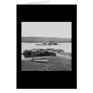USS Onondaga on the James River, VA 1864 Greeting Card