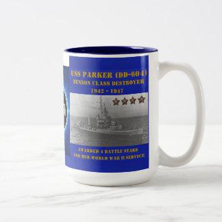 USS Parker (DD-604) Tazas De Café