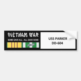 USS PARKER DD-604 VIETNAM WAR VETERAN CAR BUMPER STICKER