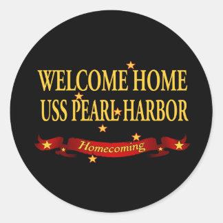 USS Pearl Harbor casero agradable Pegatina Redonda