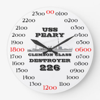 USS Peary (DD-226) Large Clock