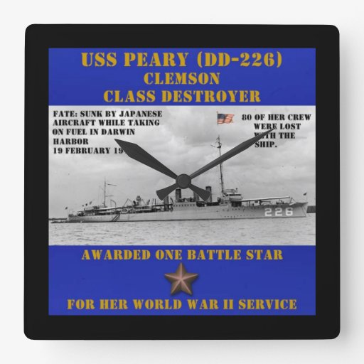 USS Peary (DD-226) Reloj