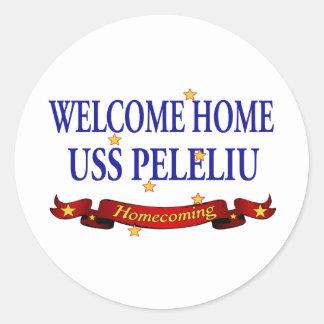 USS Peleliu casero agradable Pegatina Redonda