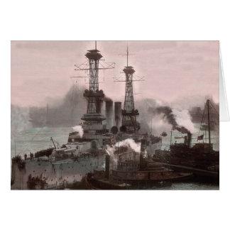 USS Pennsylvania Enter NYC Harbor Card
