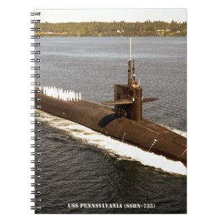 USS PENNSYLVANIA SPIRAL NOTEBOOK