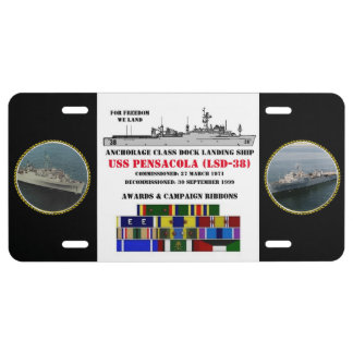 USS PENSACOLA (LSD-38) PLACA DE MATRÍCULA