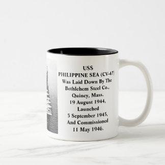 USS PHILIPPINE SEA CV-47 COFFEE MUG