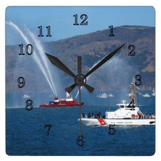 USS Phoenix and Coast Guard Cutter Sherman Wall Clock