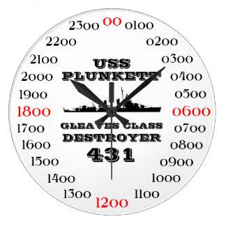 USS Plunkett (DD-431) Large Clock