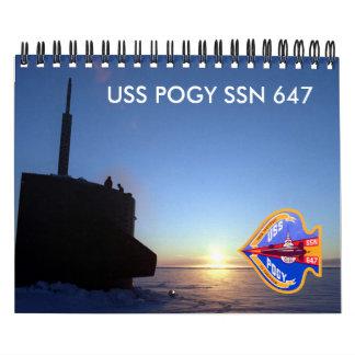 USS Pogy Calendar (A)