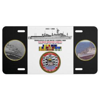 USS POINT DEFIANCE (LSD-31) LICENSE PLATE