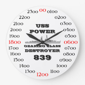 USS Power (DD-839) Large Clock