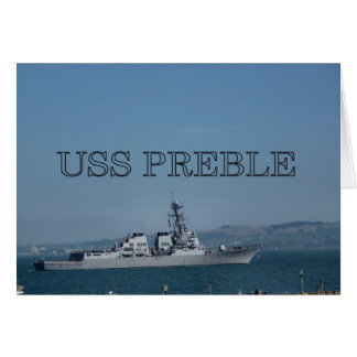 USS Preble Card