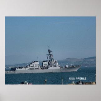 USS Preble Poster