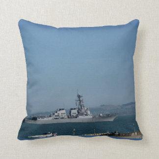 USS Preble Throw Pillow