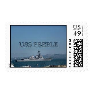 USS Preble Timbre Postal