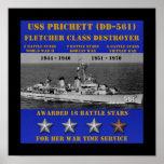 USS Prichett (DD-561) Poster