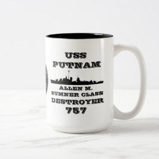 USS Putnam (DD-757) Tazas