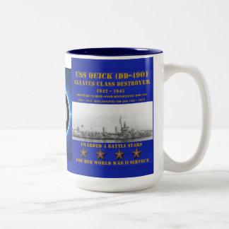 USS QUICK (DD-490) COFFEE MUGS