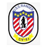 USS Ranger (CV-61) Letterhead Template